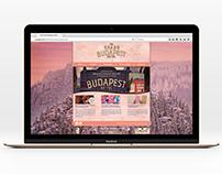 The Grand Budapest Hotel - Web Design