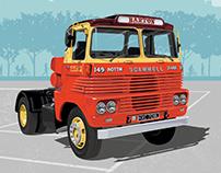 Bartons of Nottingham, Scammel cab. Vector Illustration