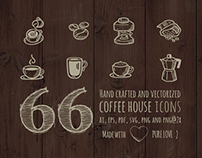 Hand Drawn Coffee House Icons