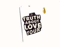 Zine project 'The truth about love tour'.