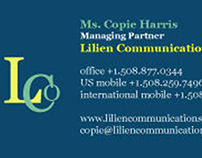 Business Cards (Lilien Communications)