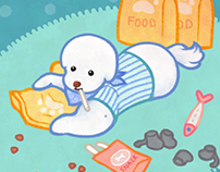Bichon frise illustrations & GIFs