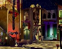 The Alchemist|Set Design-The Market,Morocco