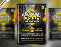 Street Party Flyer Graphics PSD