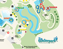 Waterpark Map Illustration :: Monon Community Center