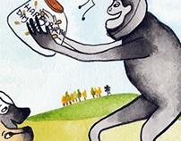 "Children's Book Illustration - ""Apie's Present"""