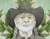 Willie Nelson on a Field of Greens