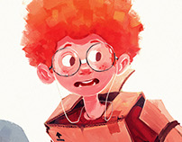 "Character Design ""redhead boy"""