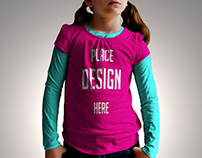 Girl-kids-tshirt-mock-up Free Download