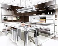 Kitchen 3D Sketches