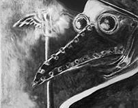 B&W Illustration 1: Plaque Doctor