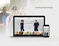 Medelita - Fashion Landing Page Design