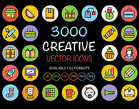 3000 Creative Vector Icons Bundle