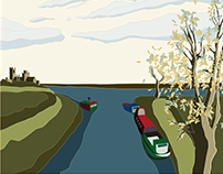 Fish & Duck Marina, Illustration