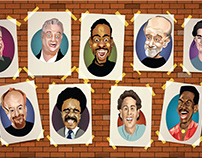 Sandy Station Comedian Caricature Wall Complete