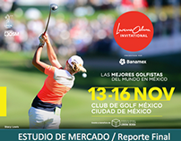 Lorena Ochoa Invitational CDMX 2014: Estudio de mercado