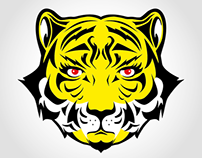 Logo Design Yellow Tigers