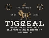 Tigreal - Vintage Slab Serif Font (Free Download)
