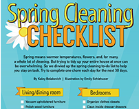 Spring Cleaning Checklist infographic