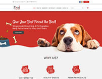 Pet-Dog Website Design