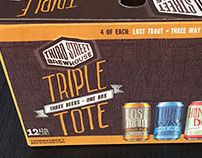 Third Street Brewhouse Triple Tote Packaging