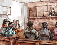Courtroom sketches