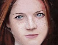 Rose Leslie digital painting