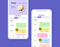 Health App for Maintaining daily meal schedules