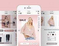 """UI Design for """"Karoline"""" shop app"""