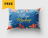 Free Pillow Cover Mockup Set | Textile