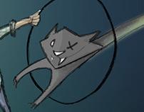 Кот Шредингера - поздравительная открытка
