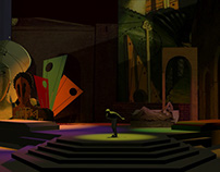 Theater Set Design Inspired by Giorgio de Chirico works