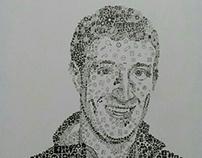portrait doodling