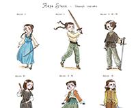 Arya's dresses