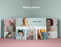 Free Website Mockup PSD For Screens