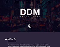 DDM Productions site design