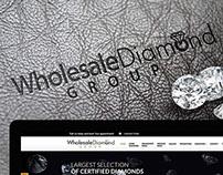 Whole Sale Diamonds Group, Branding + Web design