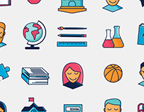 Staffably icons and patterns