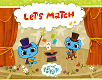 "Kit^n^Kate ""Let's Match"" game"