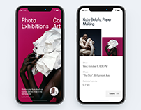 Series of mobile UI concepts