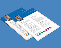 Free Resume Template with Three Color Combination
