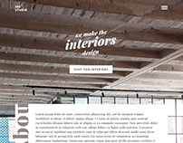 Website concept for interior design