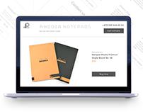 Landing page for sailing notepads with mobile version.