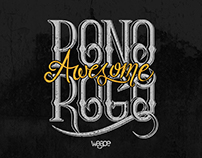 "Hand Lettering of ""Ponorogo Awesome"""