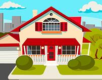 Illustrations for real estate agency ads