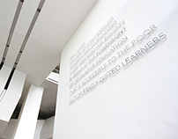 College Institutional Statement Wall