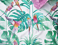 TROPICAL PATTERN/ TEXTILE DESIGN 2017