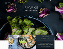 Fawke Restaurant Website Design (Concept)