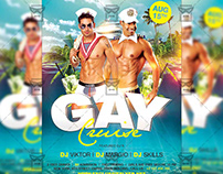 Gay Cruise Flyer - Club A5 Template