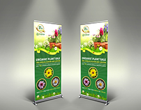 Plant Sale Show Signage Roll Up Banner Template